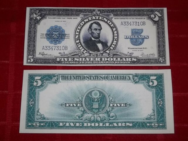 Crisp Unc. 1923 Silver Certificate Copy PLS Read Description | eBay