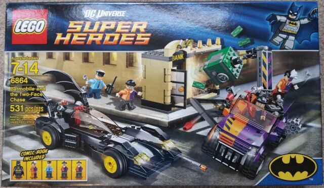 LEGO DC Universe Super Heroes The Batmobile and the Two-Face Chase (6864) Retire