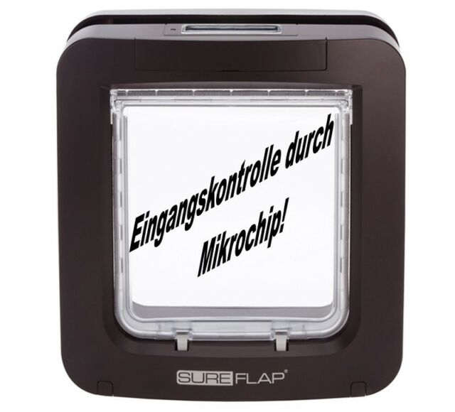 sureflap mikrochip katzenklappe braun top ebay. Black Bedroom Furniture Sets. Home Design Ideas