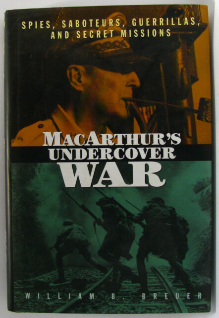 #AD^, W Breuer & D MacArthur  MACARTHUR'S UNDERCOVER WAR H/cover Postage Fast...