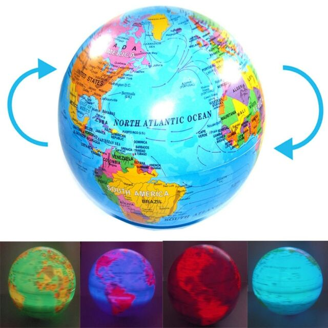 Spinning magic revolving rotating led light up world earth map globe spinning magic revolving rotating led light up world earth map globe desk table gumiabroncs Images