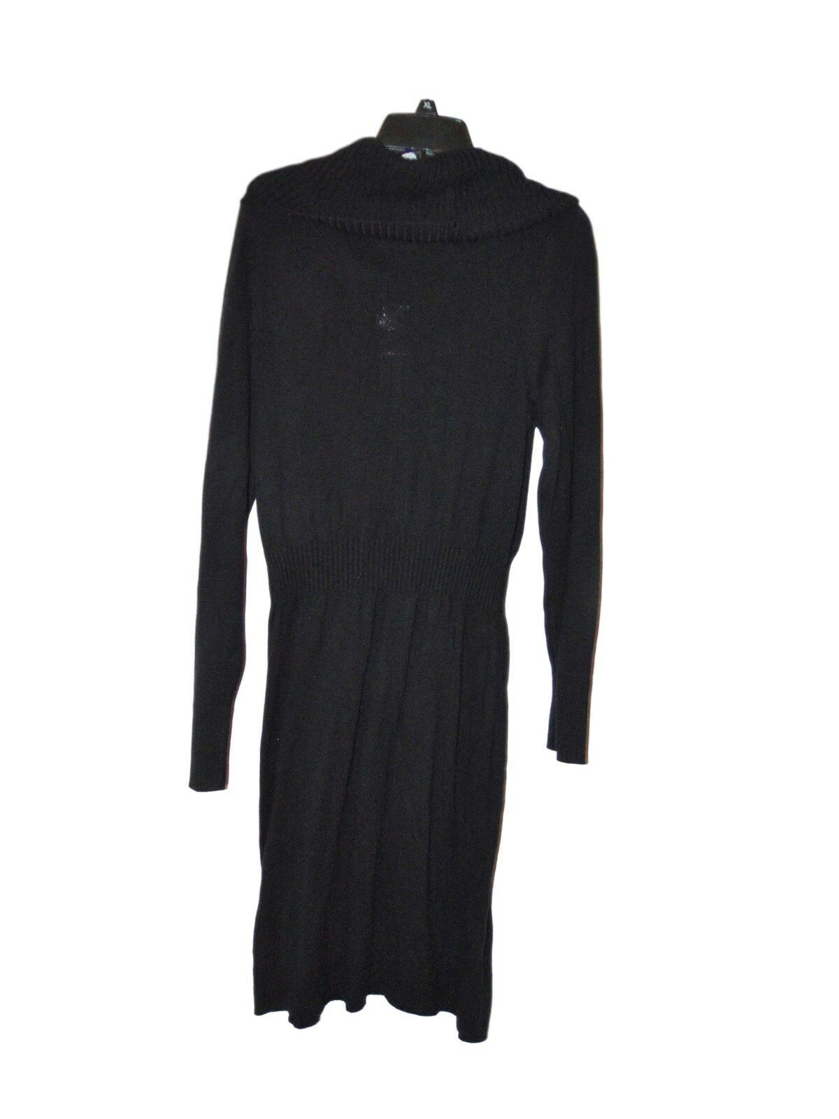 Apt. 9 Rib Waist Cowl Neck Sweater Dress Size 1x Black | eBay