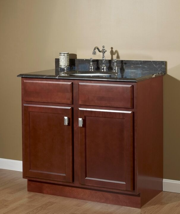 Jsi Craftsman Bristol Cherry 30 X 21 Bathroom Vanity Cabinet Two Doors Base