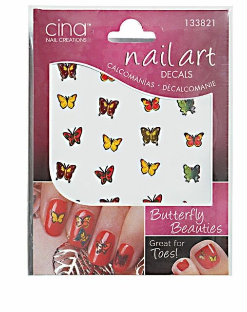 Cina Nail Creations Nail Art Decals Butterfly Beauties 133821 Ebay