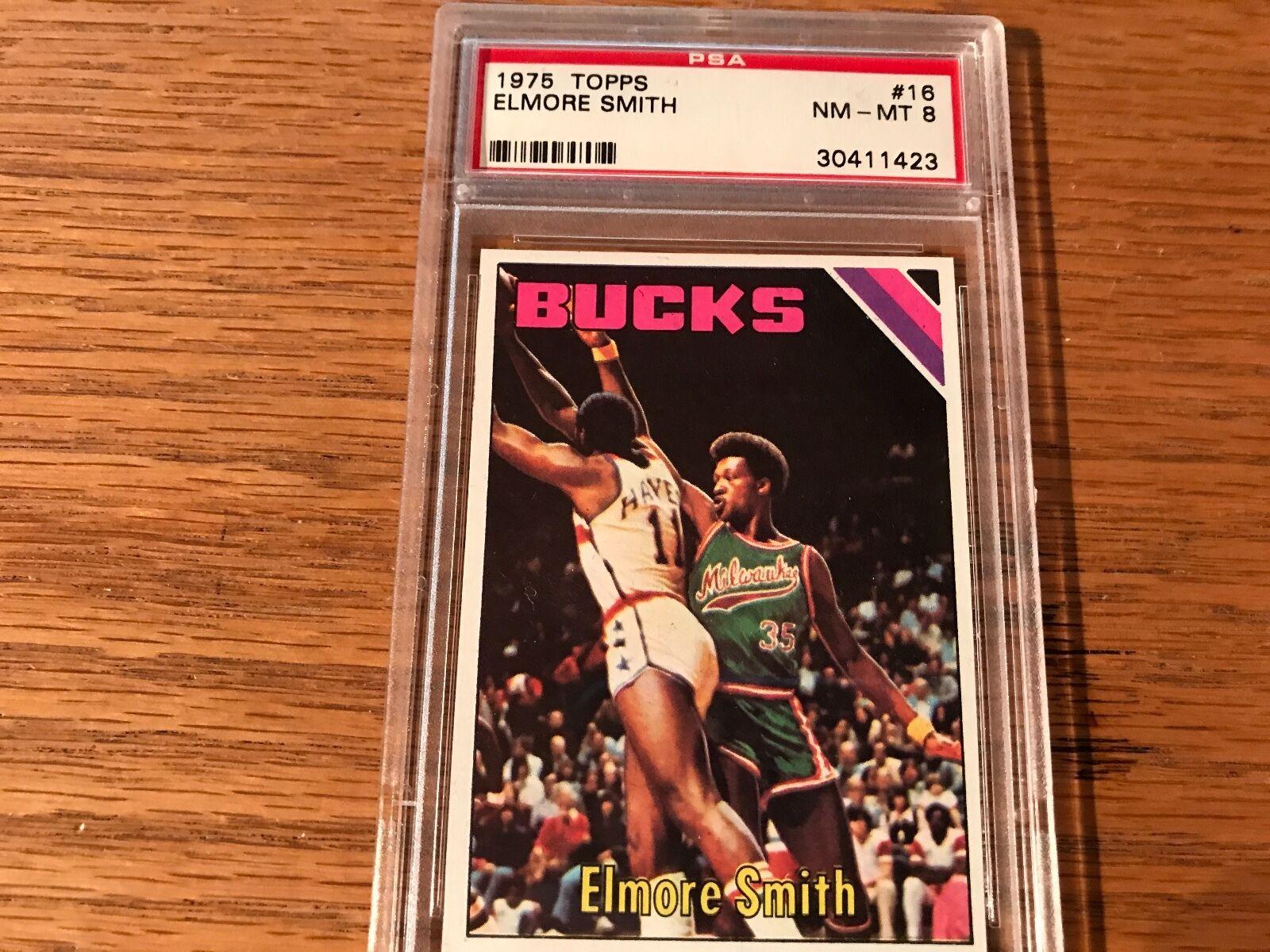 1975 Topps Elmore Smith 16 Basketball Card
