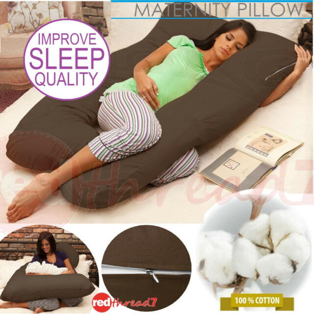 Baby Nursing Feeding Pillow Maternity Pregnancy Cushion Support Boyfriend Brown