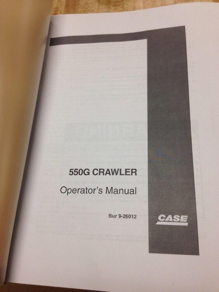 case 550g crawler dozer operation maintenance manual bur 9 26012 rh ebay com Old Case Dozers Track Pads for Case Dozers