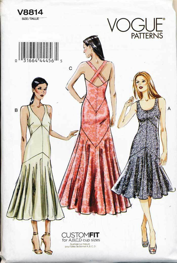 Vogue Sewing Pattern 8814 Misses 6-14 Custom Fit Evening/formal Gown ...