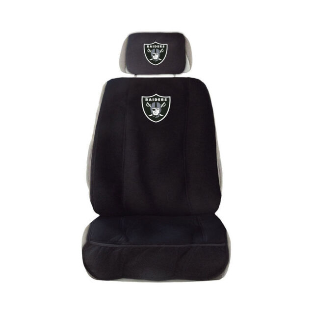 New Oakland Raiders Car Truck Front Seat Cover W Head Rest Universal