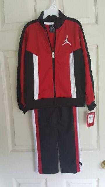 Nike Air Jordan Jumpman 2Piece Tracksuit, Warmup,Red, Black,White Size 4