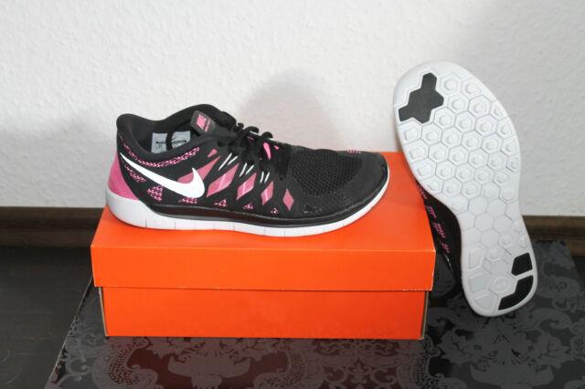 NIKE Free Run 5.0 Donna Running Scarpe Nere Rosa Rosa Tutte le Taglie Nuovo