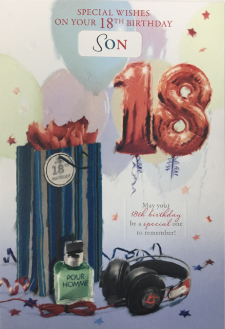 18th Birthday Card Male Titles Son Brother Nephew Grandson Great