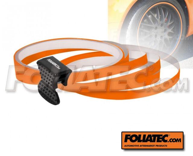 FOLIATEC Pin Striping  Farbe ORANGE Felgen Design Stripes inkl Montagetoo