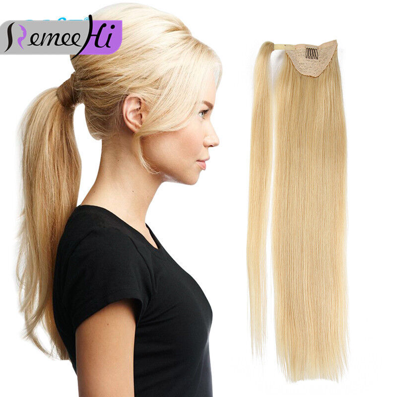 Fashion Thick Straight High Ponytail 100 Indian Remy Human Hair