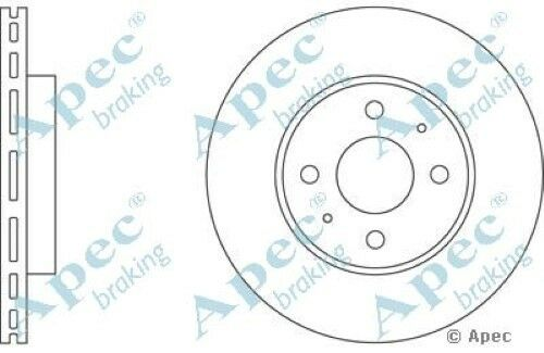 1x OE Quality Replacement Front Axle Apec Vented Brake Disc 4 Stud 257mm Single