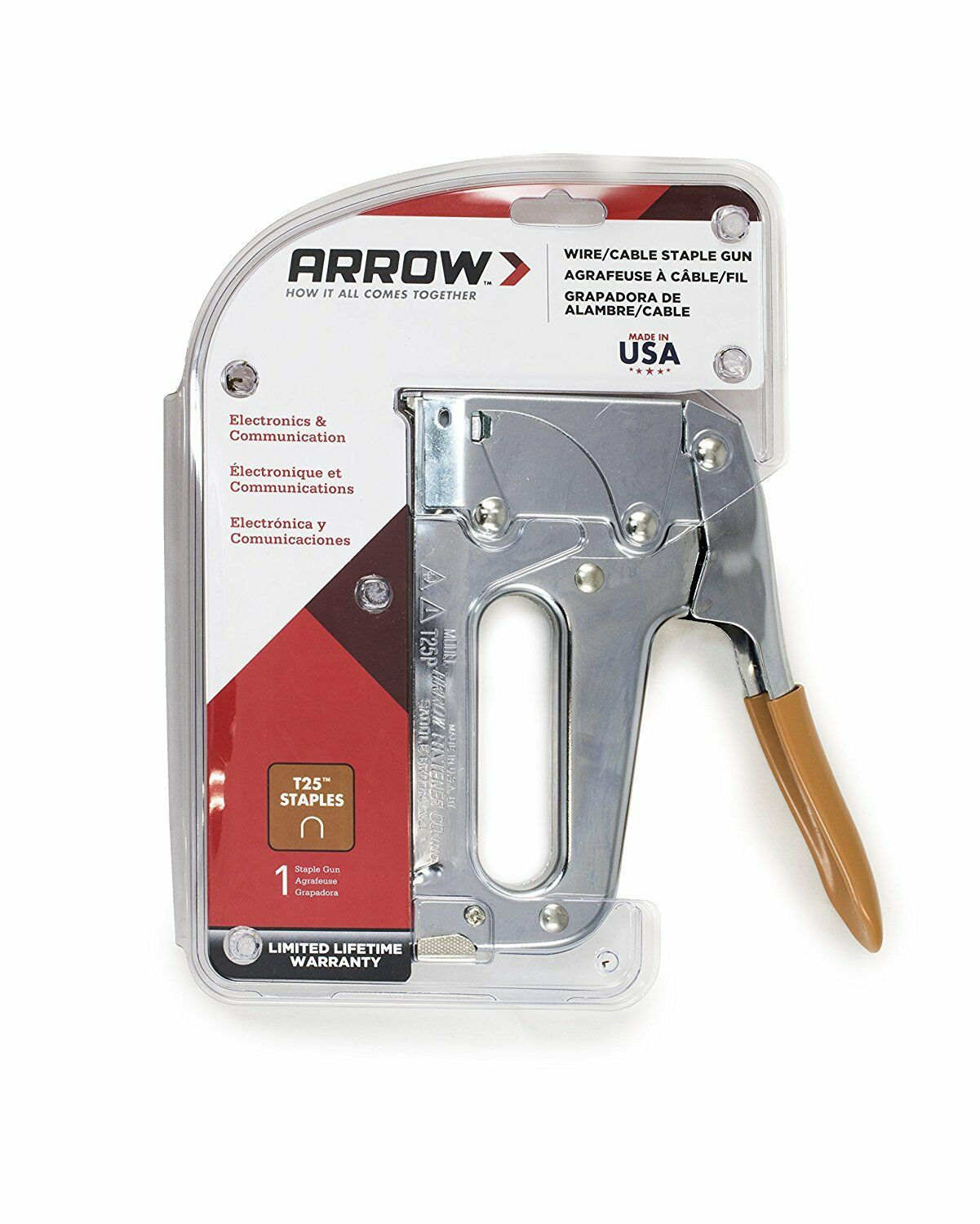 Arrow Fastener T25 Low Voltage Wire Staple Gun Fits up to 1/4-inch ...