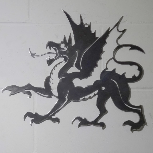 Medieval Mythical Dragon Wall Art Solid Steel Metal Hand Finished ...