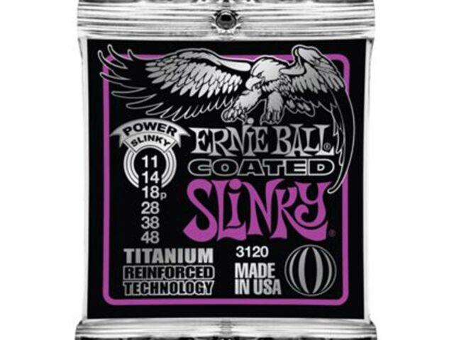 Ernie Ball 3120 Coated Titanium Reinforced Power Slinky 11-48 String Set