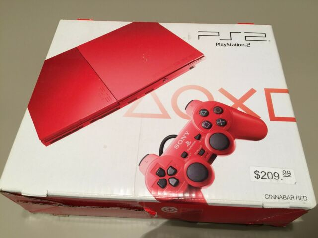 Sony PlayStation 2 Slim Ps2 Red Cinnabar Console Japanese SCPH-90007 New Sealed