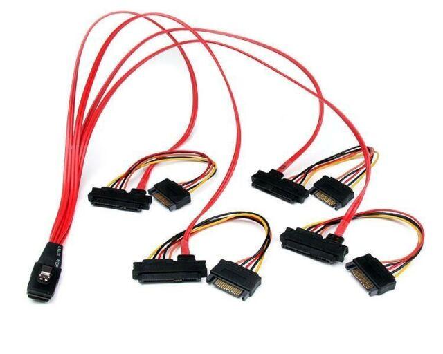 StarTech.com Internal Serial Attached SCSI Mini SAS Cable SFF8087 to 4x SFF8482