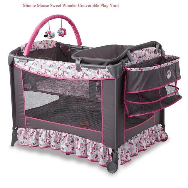 Disney Baby Bassinet Convertible Safety Minnie Mouse