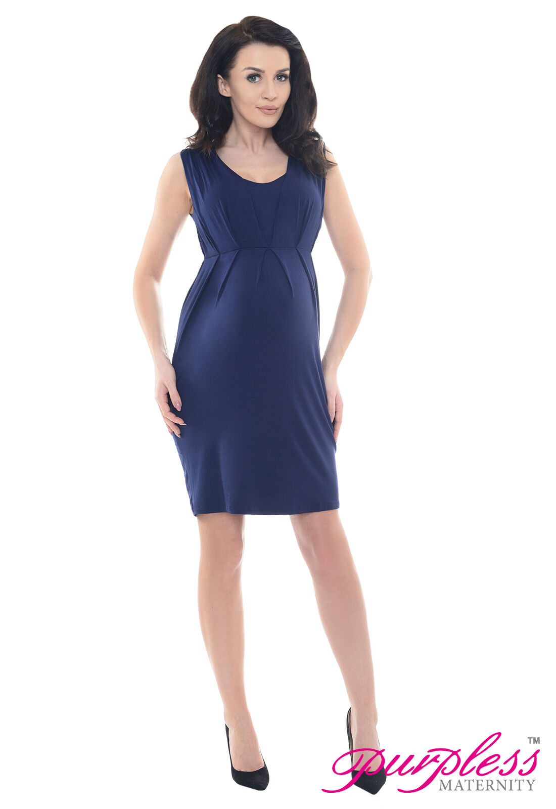 Purpless maternity stunning sleeveless v neck pregnancy dress top picture 3 of 4 ombrellifo Image collections