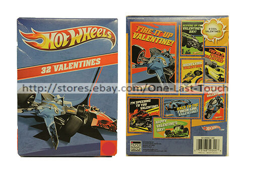 Paper Magic Showcase Hot Wheels Valentines Exchange Cards 32 Count