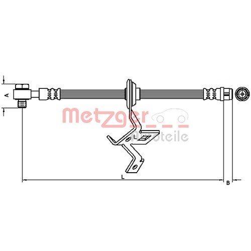 METZGER Original Bremsschlauch Mercedes-Benz M-Klasse 4116208