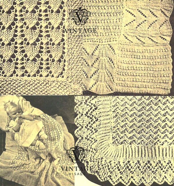 Vintage Visage Knitting Pattern Make 3 Lace Baby Heirloom
