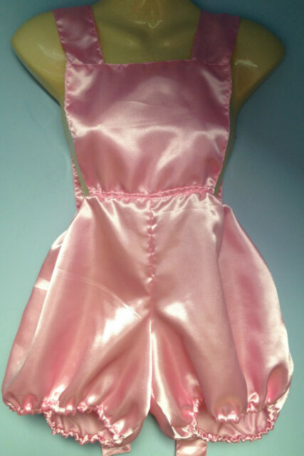 Pink Satin Pants Romper Pantaloons French Maid Cosplay