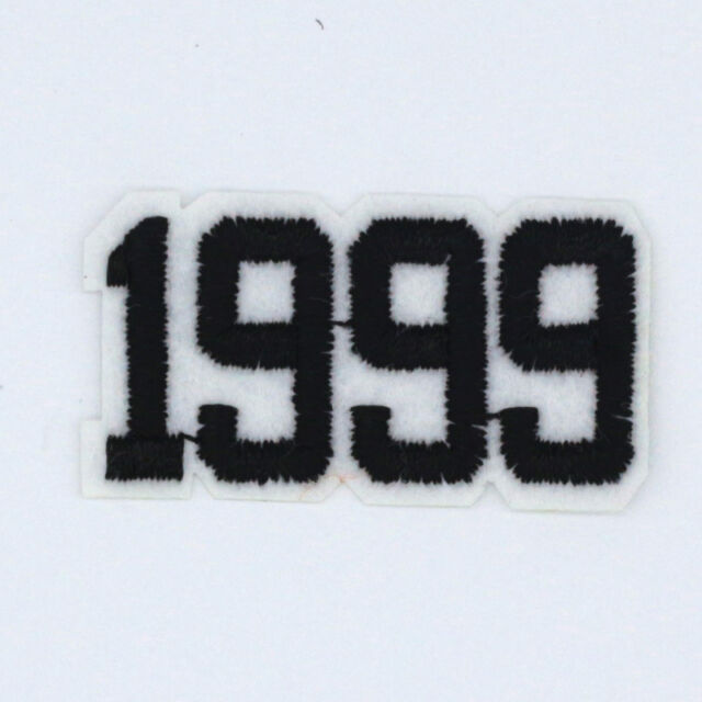 1999 number Design Embroidered Cloth Iron On Patches Sewing Motif Appliques  NEW