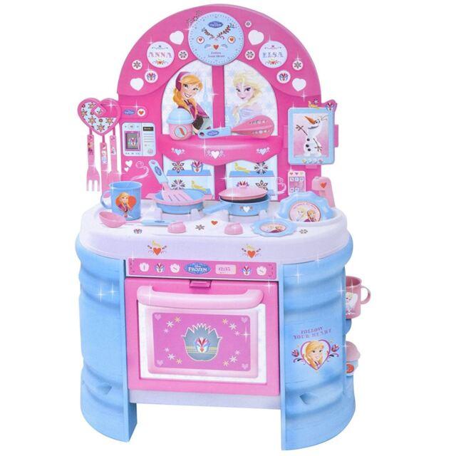 Disney Frozen Mega Kitchen Kids Playset 17pc Double Sided