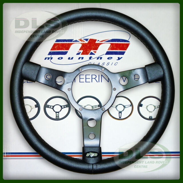 "LAND ROVER DEFENDER - 14"" Mountney Black Vinyl Steering Wheel (43SBVB)"