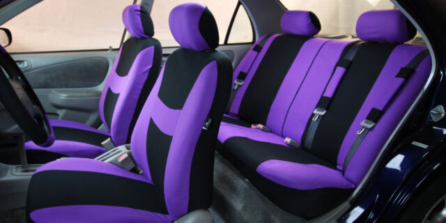 Car Seat Cover for Cars Full Set Purple With 5 Headrest Covers | eBay