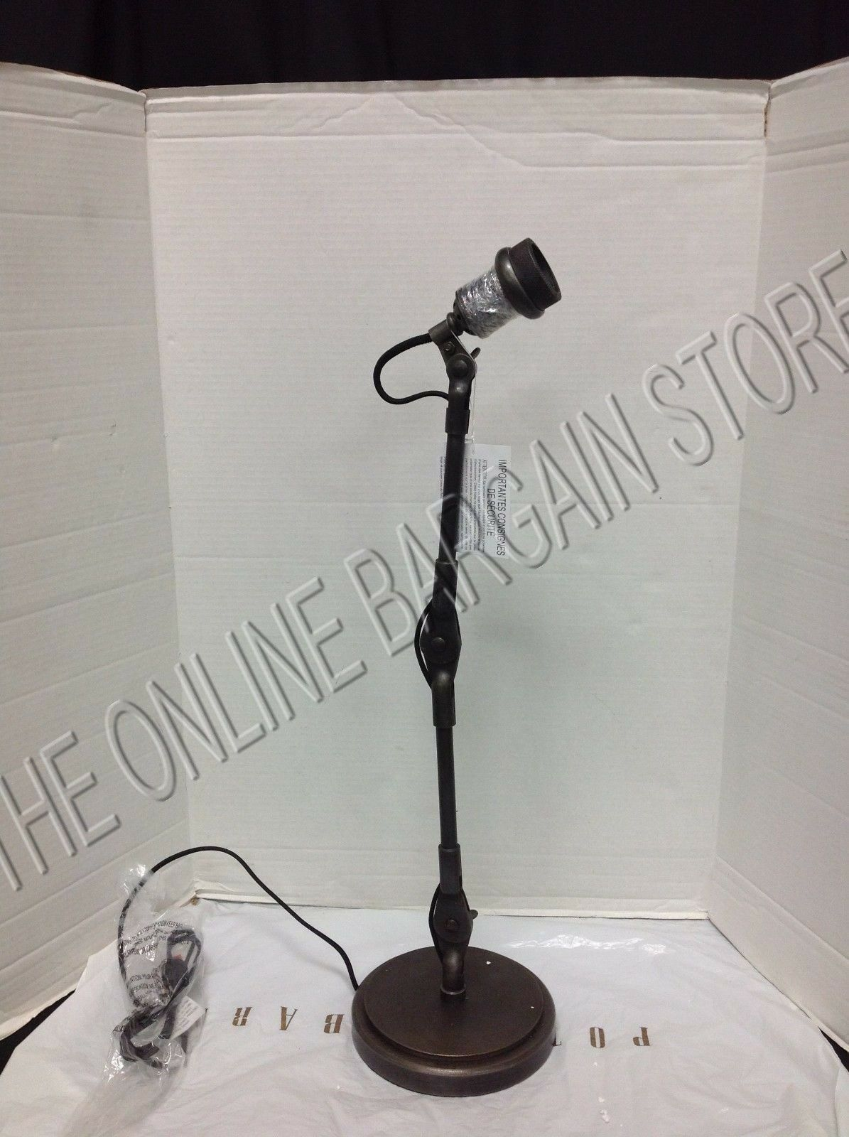 Pottery barn sidney vintage task table lamp light fixture antique picture 1 of 4 geotapseo Images