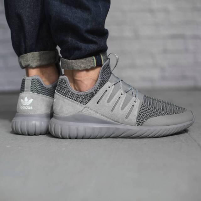 [Adidas] S76718 Unisex Orgininals Tubular Radial Running Men Women Gray Shoes