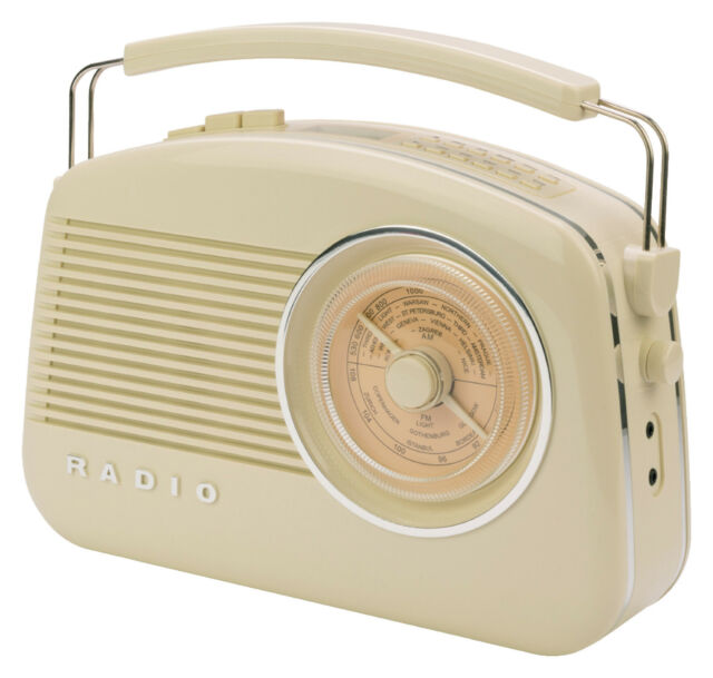 Konig Beige  AM/FM DAB+ Retro Portable Table Radio - BRAND NEW