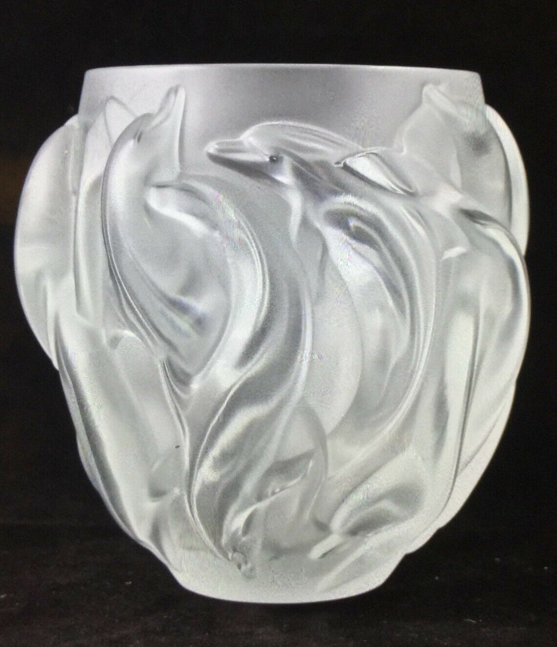 Lalique dolphin vase oceania model 12508 ebay resntentobalflowflowcomponentncel reviewsmspy