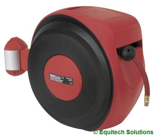 Sealey Tools SA821 Auto Rewind Retractable Air Hose Reel 10m Wall Mount New