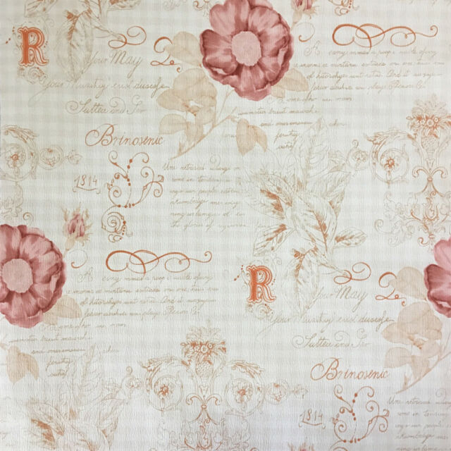 Rasch textil vintage diary tapete muster rot 255088 ebay for Tapete rot muster
