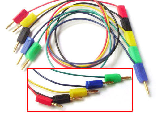 50pcs 5 Color Gold 2mm Banana Plug Cable for 2.0mm Binding Post Test ...
