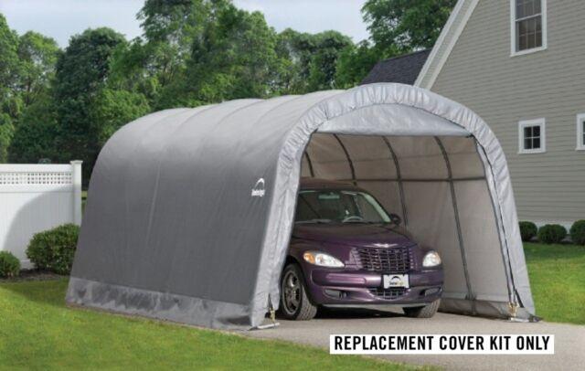 ShelterLogic Replacement Cover 12x20 Round Garage in a box 90541 for model 62780 & ShelterLogic 12x20 Round Shelter Portable Garage Steel Carport ...