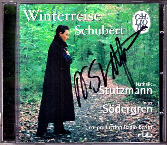 Nathalie STUTZMANN Autographed SCHUBERT WINTERREISE CD Signiert Inger Södergren