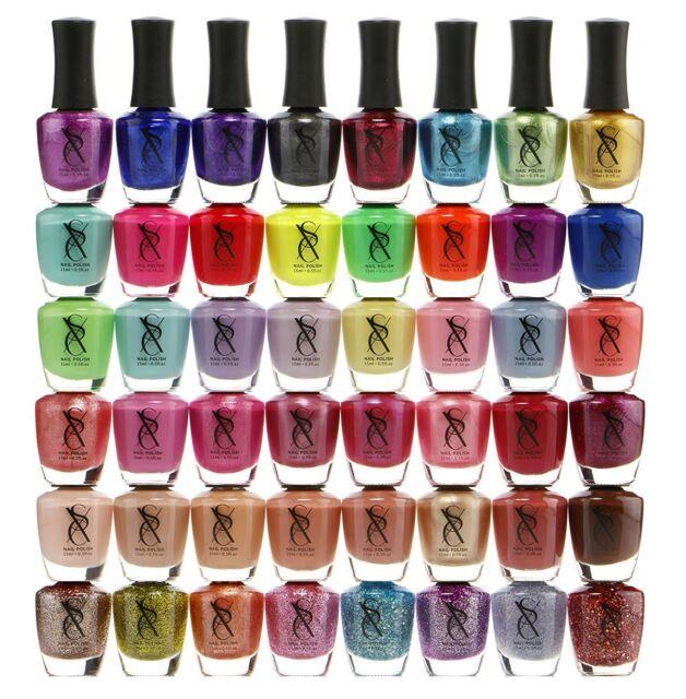 SXC 48 Awesome Colors Nail Polish Set of Metallic Neon Pastel ...
