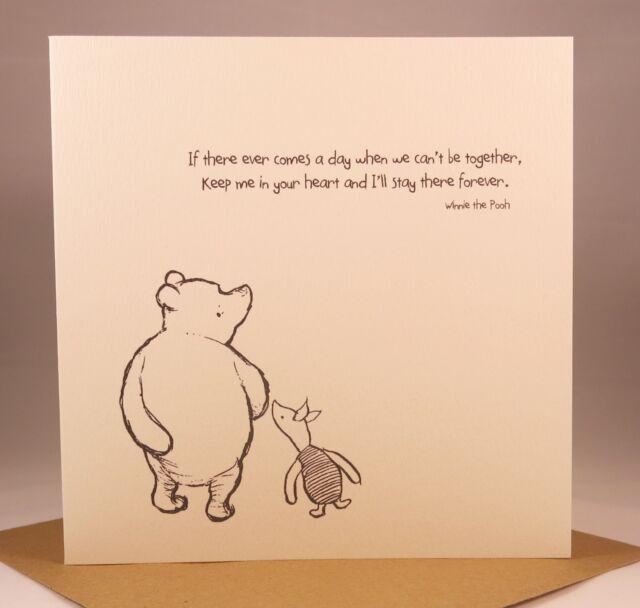 Winnie The Pooh Birthday Card Husband BOYFRIEND Wife Girlfriend – Pooh Birthday Cards