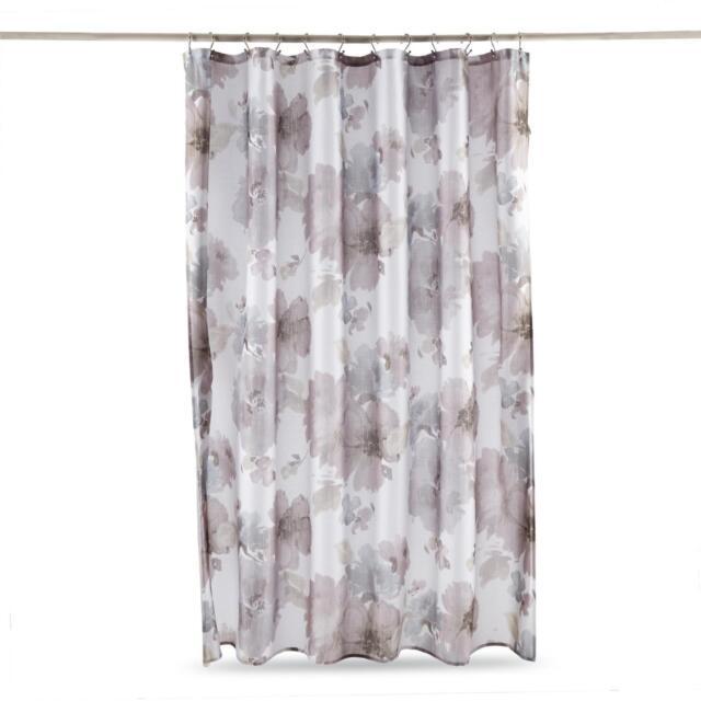 Essential Home GRETTA Floral Print Fabric Shower Curtain 70x72 In
