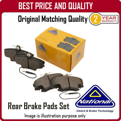 NP2650 NATIONAL REAR BRAKE PADS  FOR OPEL CORSA