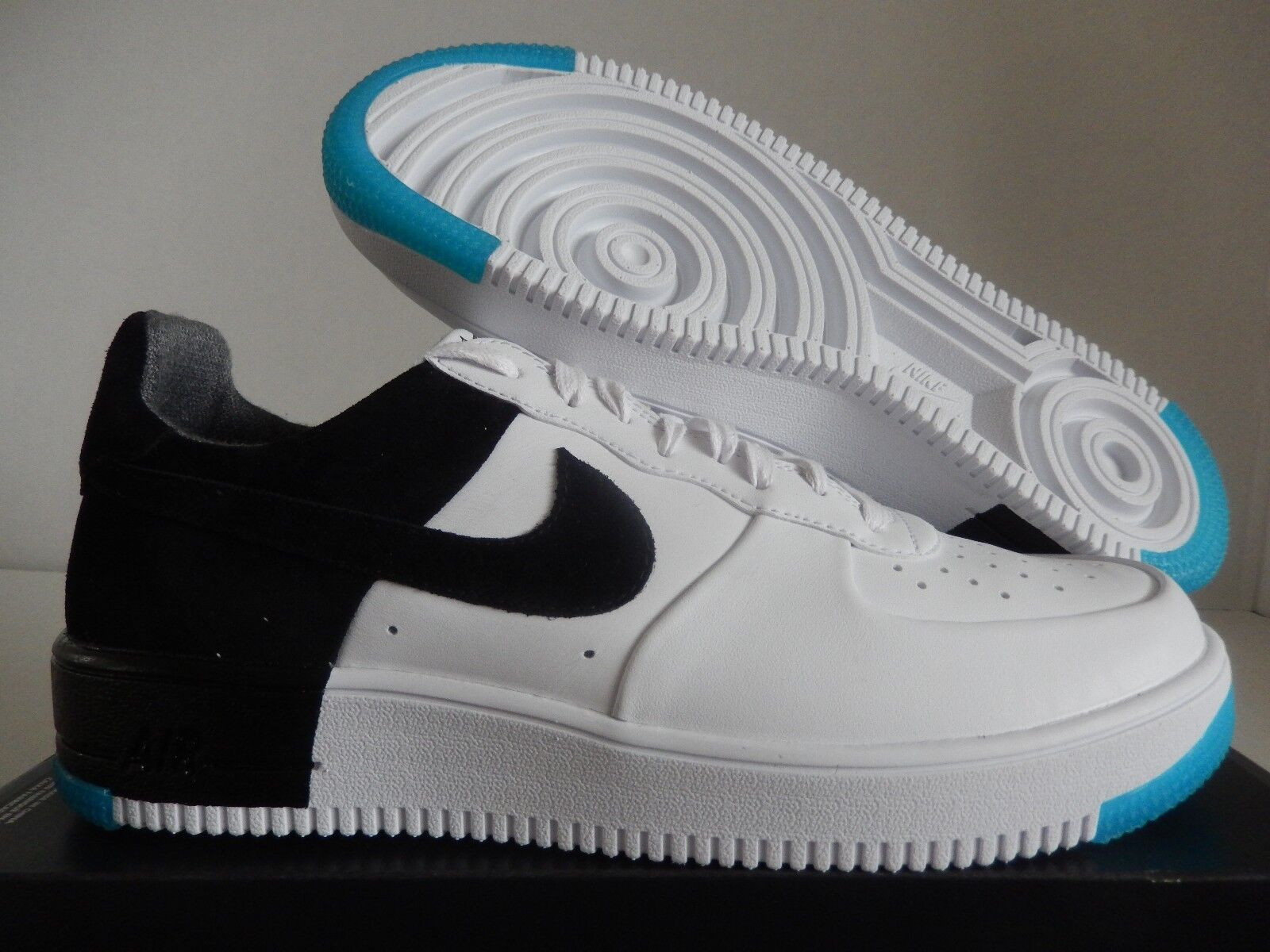 NIKE AIR FORCE 1 ULTRAFORCE N7 WHITE-BLACK-DARK TURQUOISE SZ 9.5 [873309-103]
