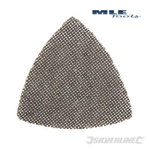 Silverline Hook & Loop Mesh Triangle Sheet 105mm 10pk 40 80 120 180 various grit