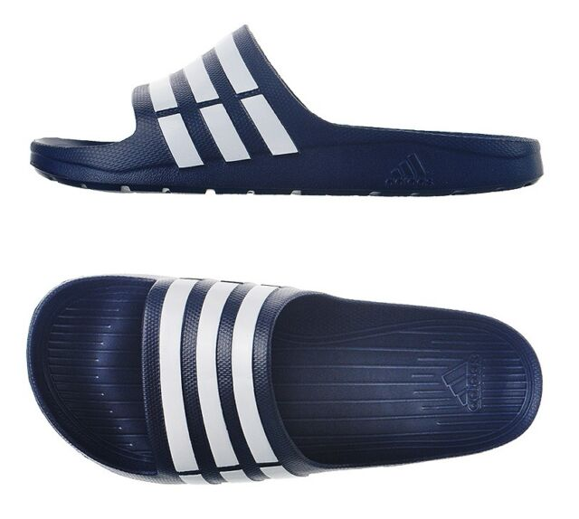 New Mens Adidas SANDAL Duramo Slides (G15892) Navy All Sz Adidas Beach  Slippers